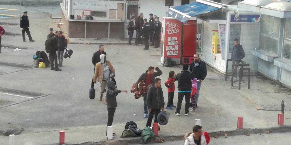 Migranti deložirani iz objekta na staroj autobusnoj stanici